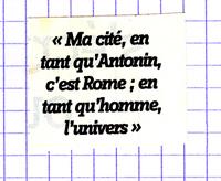 ma cité en tant qu'antonin c'est rome en tant qu'homme l'univers