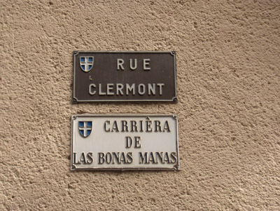 Rue Clermont / Carrièra de las bonas manas