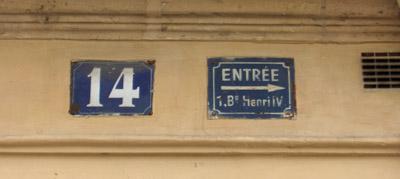 entrée 1 bd Henri 4