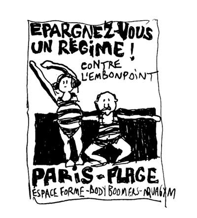épargnez-vous un régime ! contre l'embonpoint Paris-Plage aquagym body boomer