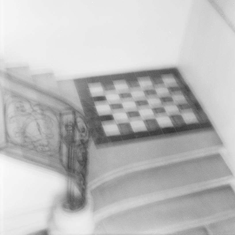 escalier de l'hôtel Voysin