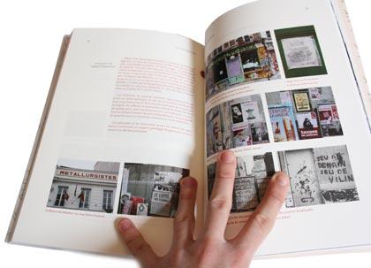 Double page. Étude du paysage typographique du Belleville d'aujourd'hui.