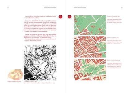 Double page. Histoire de la rue Vilin par les plans.